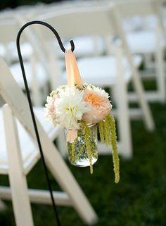 Peony Flower Arrangements, Wedding Arrangements, Church Wedding Flowers, Aisle Flowers, Floral Wedding, Diy Wedding, Wedding Ideas, Small Garden Wedding, Coral Wedding Flowers