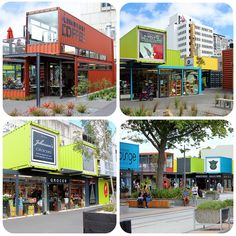 Christchurch NZ container mall! So cool. All rebuilt after the earthquake