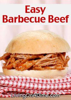 10 Ways To Use Leftover Roast Beef - Easy Barbecue Beef Recipe (Leftover Beef Recipes) Roast Beef Recipes, Pulled Pork Recipes, Crockpot Recipes, Tofu Recipes, Dinner Recipes, Cooker Recipes, Yummy Recipes, Picnic Recipes, Bacon Recipes