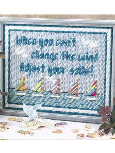 Plastic Canvas - Home Decor - Decorations & Knickknacks - Wise Words - #FP00200