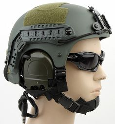 IBH Helmet With NVG Mount OPS Rail(OD)