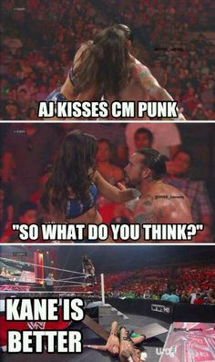 #WWE AJ kisses and tells!