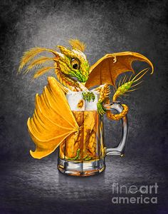Beer dragon by Stanley Morrison