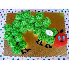 The Very Hungry Caterpillar Cupcakes For a fun and sweet treat, make cupcakes in the shape of your child's favorite book character!