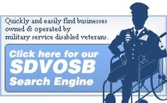 Service Disabled Veteran Owned Small Business (SDVOSB) Search Engine