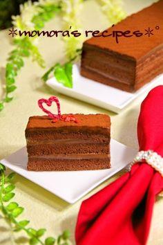 「ホットケーキミックスで簡単濃厚♡生チョコケーキ」ホットケーキミックスで簡単生チョコレートケーキが出来ます♡ふわふわ生地に濃厚生チョコ♬お持て成しにも是非どうぞ♪【楽天レシピ】