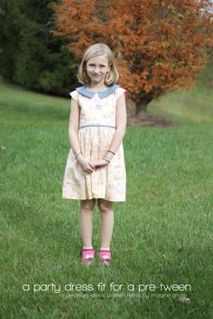 sewing: a party dress fit for a pre-tween || imagine gnats