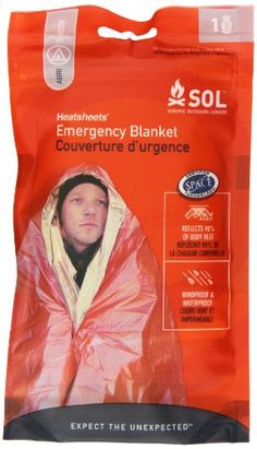 Adventure Medical Kits Sol Emergency Blanket, One Person, 2.9 Ozs. - http://survivingthesheep.com/adventure-medical-kits-sol-emergency-blanket-one-person-2-9-ozs/