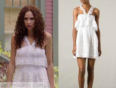 About a Boy: Season 2 Episode 7 Fiona's White Layered Halter Dress