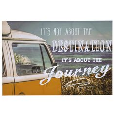 Its The Journey Campervan Canvas | The Range