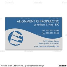 40 best chiropractic business card designs images on pinterest modern swirl chiropractic business cards reheart Images