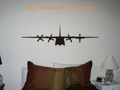C130 Military Airplane Vinyl Wall Art Decor by TheStickerFactory, $9.99