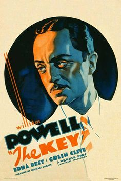"""""""The Key"""" (1934) - Star power meant William Powell's name was just as prominent, if not more, than the film's title."""