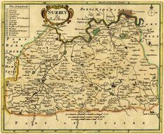 A county map of Surrey by Robert Morden dated 1720 (SHC ref. M/634)