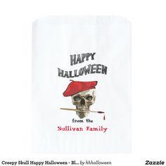 Creepy Skull Happy Halloween - Bloody Red