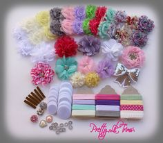121 Pieces DIY HairBow & Headband Kit  Baby by PrettyLilTrims, $42.95