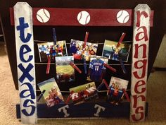 Texas Rangers photo board by RangersTalkers on Etsy, So maybe I should try to make this.. cute.