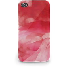 Red Abstract Watercolor - Hard Cover Case iPhone 5 4 4S 3 3GS iPod... ($23) ❤ liked on Polyvore featuring accessories, tech accessories, phone cases, phone, case, iphone, galaxy smartphone, blackberry smartphone, samsung galaxy smartphone and prepaid smartphones
