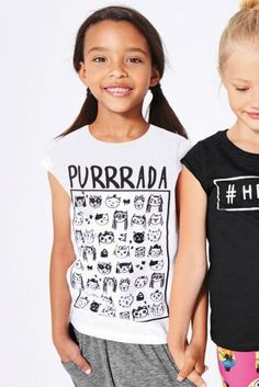 Buy Purrada Slogan Cat T-Shirt (3-16yrs) online today at Next: Israel