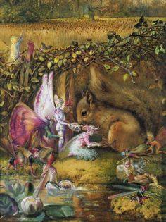 The Wounded Squirrel *John Anster Fitzgerald. Fairy Land Fairies