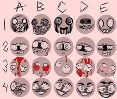 """the-adorable-lua: """"idk how i was able to do this, but here it is, the most creppy expression meme ive ever seen… send me a number+character for me to draw! :3 """""""