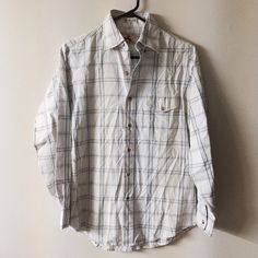 Vintage EMS small cotton button down shirt In great condition!! Vintage Tops Button Down Shirts