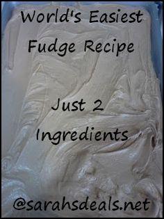 World's Easiest Fudge Recipe