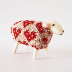 Handmade Woolly Sheep - Queen of Hearts