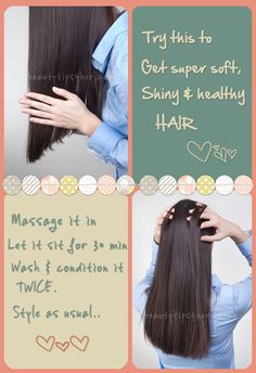 Do you have dry hair or scalp?  Try this inexpensive solution to get super, shiny + healthy hair. #shinyhair, #hair