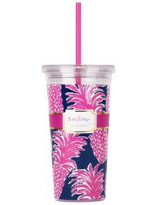 Print: Flamenco A reusable cold drink tumbler WITH a straw, in my favorite Lilly Pulitzer print pattern? Yipee! Yes, you can now sip and slurp with a stylish Lilly Pulitzer tumbler with straw! Keep co