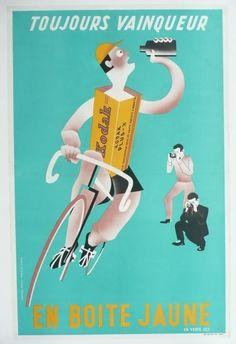 Affiche+originale+Kodak+Photo+Cyclisme+Tour+de+france