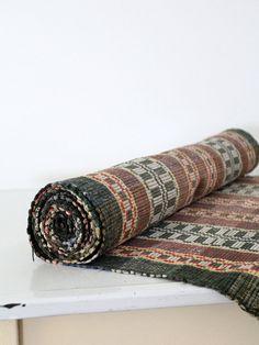 vintage floor runner / 1920s Scandinavian rag rug / 12 by 86home,