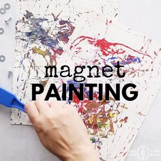 Add a cool twist of science to your next art project with Magnet Painting. It… Add a cool twist of science to your next art project with Magnet Painting. It's a perfect STEM and STEAM activity for classrooms, makerspaces, homeschool, afterschool and more. Winter Crafts For Kids, Art For Kids, Paint Night For Kids, Winter Thema, Frog Crafts, Watercolor Painting Techniques, Painting Videos, Painting Art, Simple Art