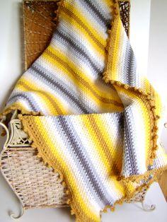Crochet Baby Blanket Pattern - Grey Gardens - Easy Pattern Great for Beginners. $5.00, via Etsy.