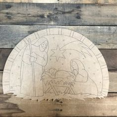 Nativity Scene Cutout, Wood Shape, Paint by Line Wood Craft Patterns, Wooden Pattern, Wood Burning Patterns, Picture Letters, Wooden Picture Frames, Wooden Cutouts, Wooden Shapes, Fall Crafts, Christmas Crafts