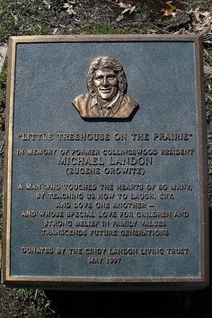 Michael Landon Plaque