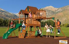 outdoor playsets with monkey bars plans   Childrens Wooden Swing Sets