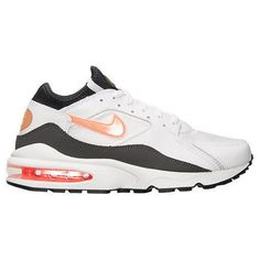 a7dc92629e83 Nike Air Max 93 Running Shoes 306551-106 White Crimson Anthracite Black Men  Sz10