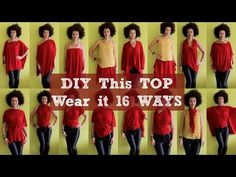 ▶ How To Make a DIY Top and Wear it 16 Ways (NO SEW) - YouTube