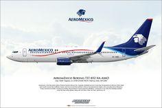 https://flic.kr/p/L2T2X2 | Aeroméxico Boeing 737-852 XA-AMO Airliner Profile Art…