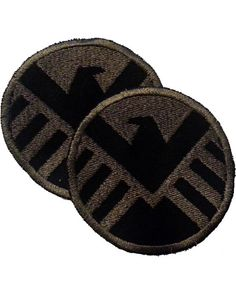 Set of 2 Costume Sized Agents of SHIELD Embroidered Patches on Etsy, $11.00