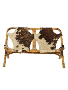 Vintage Hide Settee by Jayson Home on Gilt Home