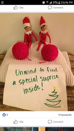This would be a cute joke prank from the elf
