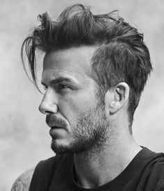 David Beckham Hairstyle Picture Gallery English Footballer David Beckham is one of the coolest footballer in the whole world. Born on May 2 David Beckham was once the heartbeat of football world and was the center of attraction of world media. Mens Messy Hairstyles, Side Part Hairstyles, Haircuts For Men, Latest Hairstyles, Hairstyle Ideas, Men's Haircuts, Hairstyles 2016, Male Medium Hairstyles, Hairstyles For Older Men