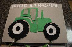 Tractor puzzle - quiet book