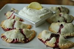 Blueberry Breakfast Pies with Lemon Cream Cheese Dip