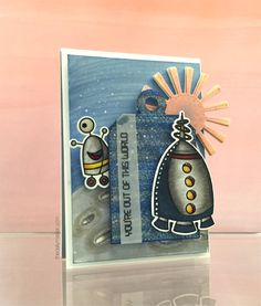 Out of This World, Our of This World Die-namics, Sunny Skies Die-namics - Kathy Racoosin #mftstamps