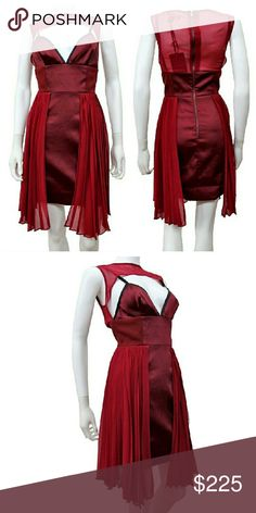 Stylestalker Maroon Layered Dress NWTs. No care tag. Back zip close. True to size. Sold out everywhere. Stylestalker Dresses Mini