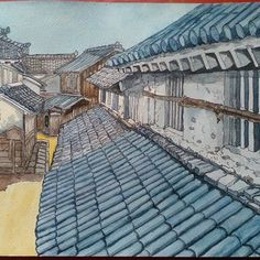 japan house #japan #japanese #house #art #painting #illustration House Illustration, House Art, Japanese House, Japan Art, House Painting, Art Inspo, Louvre, Artsy, Sketch