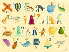 Crackle Alphabet Canvas Art